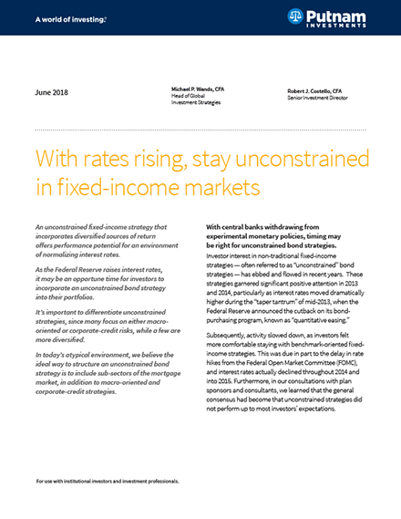 Stay unconstrained in fixed income markets PDF