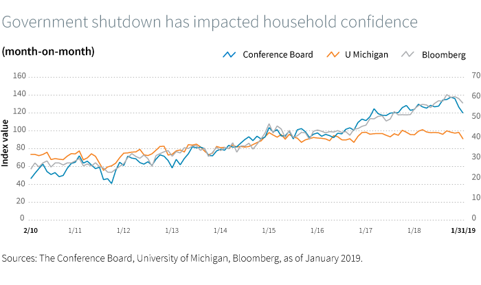 Government shutdown has impacted household confidence